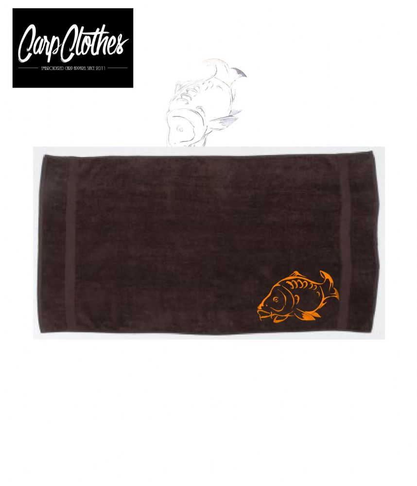 001 EMBROIDERED BROWN HAND TOWEL XL